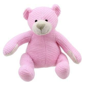Wilberry Knitted: Bear - pink Medium